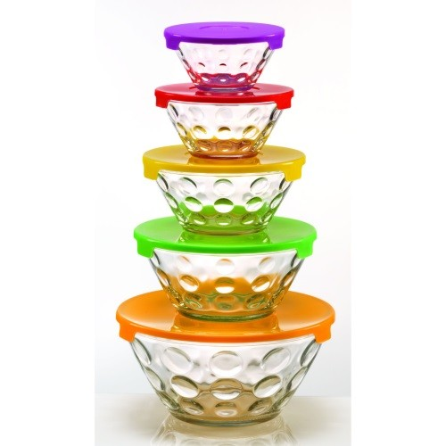 Glass Nesting Bowls - Set of 5