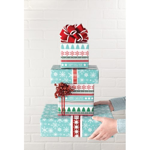 Holiday Sampler Reversible Roll Wrap