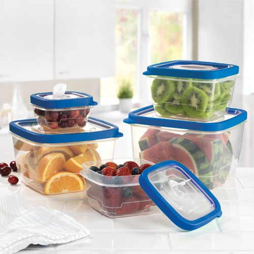 Vacuum Square Microwaveable Containers - Set of 5