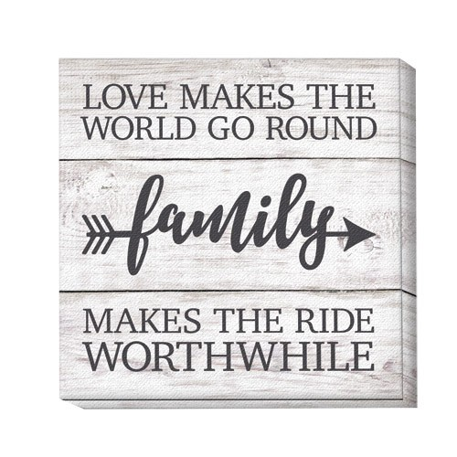 Love Makes The World Go Round Family Canvas