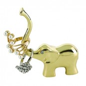 Good Luck Elephant Gold Ring Holder