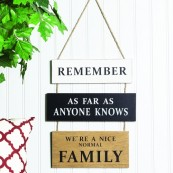 'Remember As Far As Anyone Knows' Wall Hanger