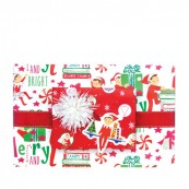 Elf On The Shelf Reversible Roll Wrap