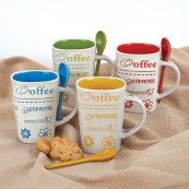 Set of 4 Mugs with Spoons