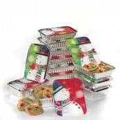 Snowman Snuggles Foil Containers